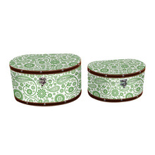 Home or office storage vintage and classic green pattern decorative boxes wholesale
