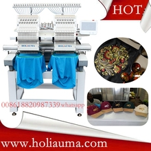 2 head garment embroidery machine used dahao software /cap embroidery machines