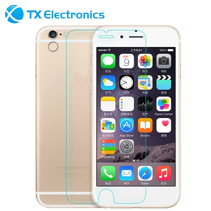 dark halo back color glass reusable 0.33mm front back mirror effect 9h protetor tempered glass screen protector for iphone 6