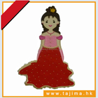 princess character pattern for embroidery design digitize service