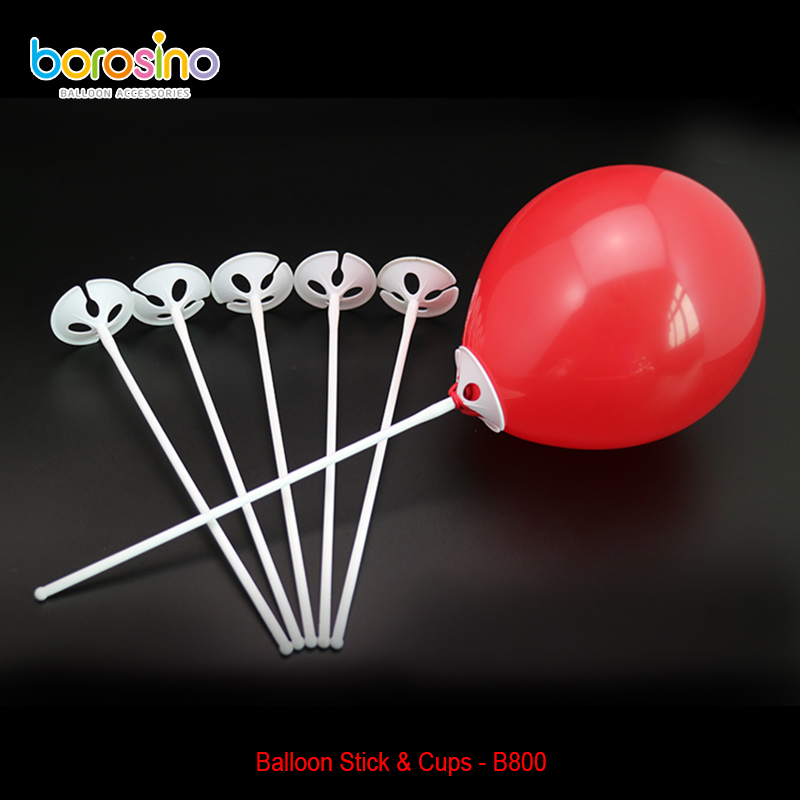B801 Plastic Multicolor Balloon Sticks With Cup Party Decoration Balloon Holder