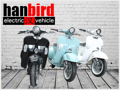 Hanbird New Design Bike 1500w Electric Scooter with 10 Inch Wheels