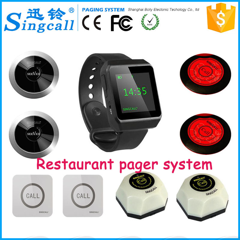 Button waiters service restaurant electronic call bells pager watch