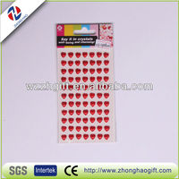 Heart Shape Attractive Pearl Stickers 8mm
