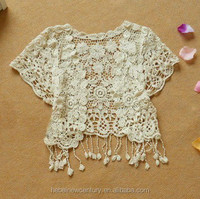 3365 Hollow-Out Lace Fringed Shawl Vest Vest Smock Crochet Vest Fashion Casual