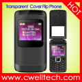 UNIWA F102 2G GSM Quad Band Dual SIM Card Dual Standby 5 Colors 1.77 inch Transparent Screen Flip Phone