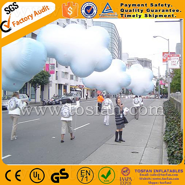 2015 Hot Sale inflatable cloud balloon helium balloon F2063