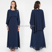 Traditional Cape styling beaded design muslim dress chiffon jubah muslimah