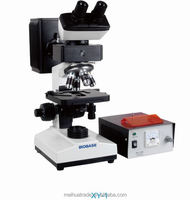 Fluorescence microscope with Binocular and trinocular and optional cold light camera