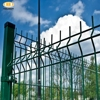 Green vinyl pvc coated fence wire panel fence supplier