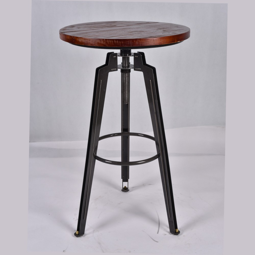 Heavy duty Vintage furniture swivel high bar stools for outdoor
