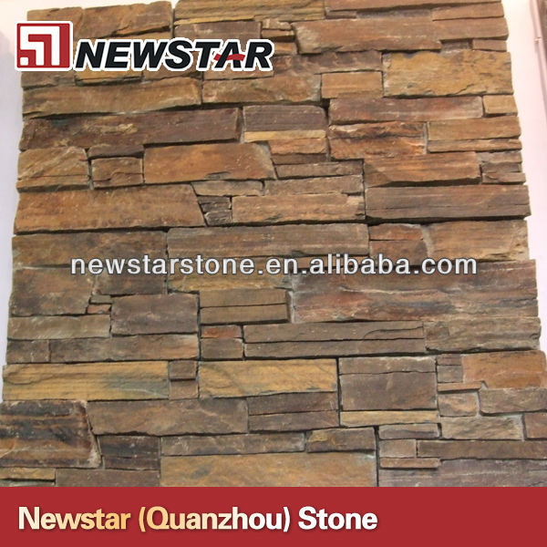 Volcanic stone for garden wall slate culture