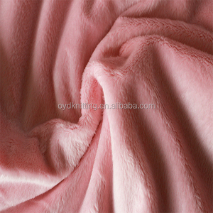 100% Polyester 2mm Pile Super Soft Plush Velboa/Velour Fabric for Pillow/Toy