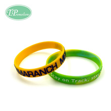 Embossed with color silicone wristband-R01