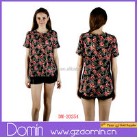 2014 Latest Fashion Floral Print Blouse Clothes for Women