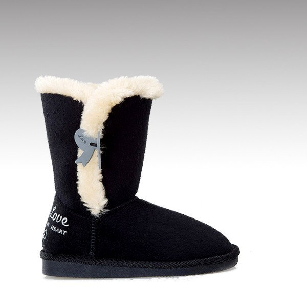 H&C-502 high quality TPR outsole durable warm childrens snow boots with soft fleece 2015 with pvc bowknot