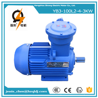 3KW 4HP 4P 1500RPM 480v AC Explosion Proof Electric Motor
