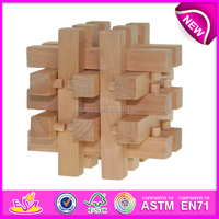 intelligent wooden puzzle/custom jigsaw puzzle/3d puzzle game W10B068-1