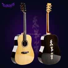 41 inch high quality handmade musical instrument electric aoucstic guitar