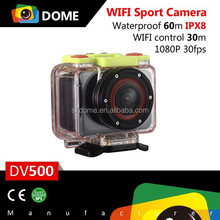 Wifi 1080p waterproof action camera android4.0 mini OLCD Screen h.264 video camera 170 wide angle sport camera