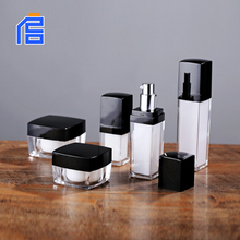 Square unique fancy luxury shape cosmetic custom made plastic lotion bottle