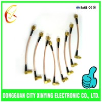 China Customized sma coax cable for tv antenna/bnc splice wire plastic connector