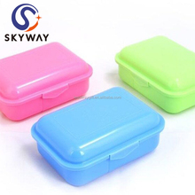New Cute Kids Bento Plastic Lunch Box with Lock Plastic Tiffin lunch box