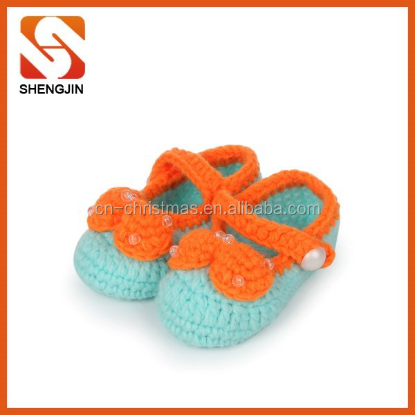 best selling comfortable soft baby knitting girl infant shoes