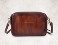 vintage style coffee color lady shoulder bag small leather bag