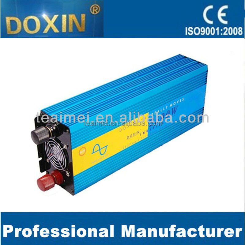 12vdc to 220vac 2500w pure sine wave power inverter for home