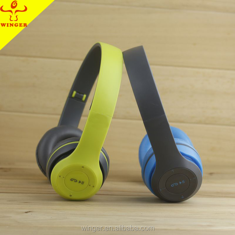 Factory Wholesale Headphone wireless bluetooth headset with FM radio