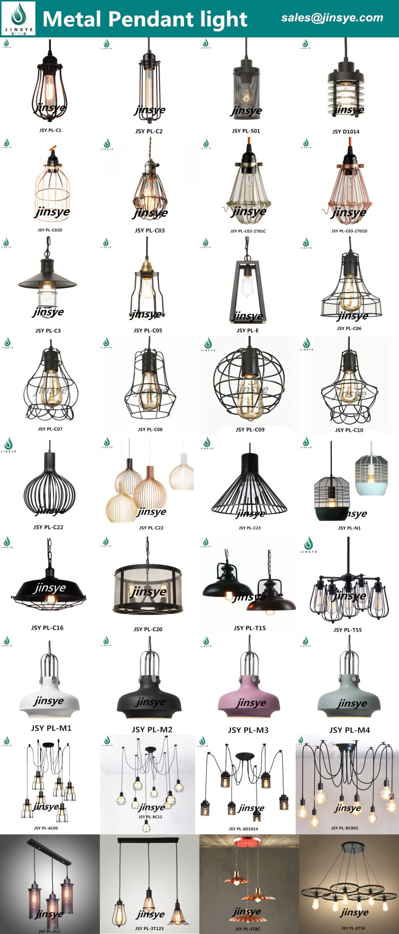 Black Iron multi socket lighting lamp cage Spider lamp