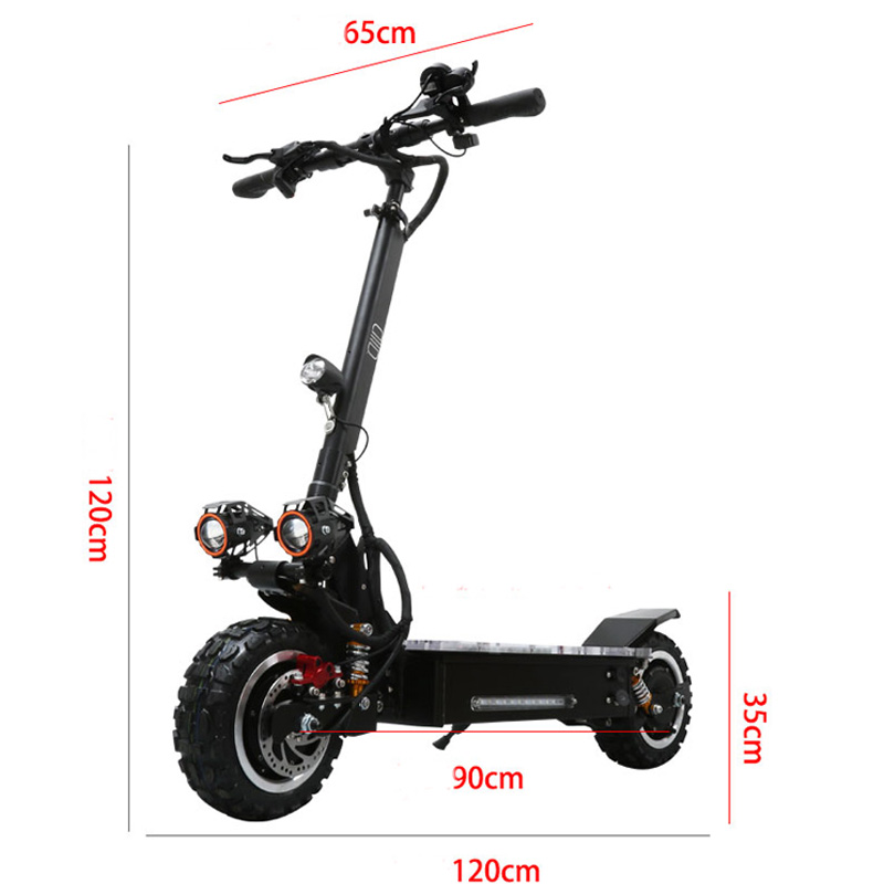 High Quality Cheap 11inch 3200W 60V electric scooter with seat Optional