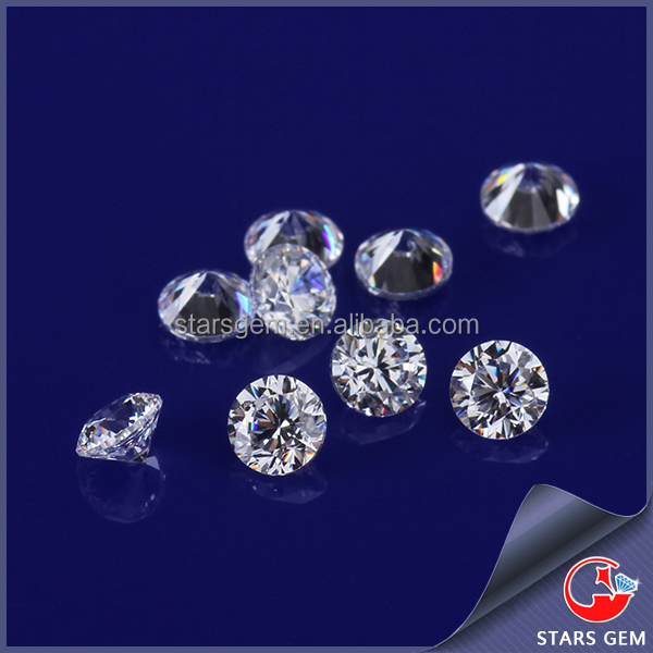 Loose cubic zirconia wholesale round casting cz best zircon white 3mm