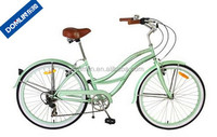 Chinese factory price 7 speed steel beach cruiser bike for women /Logo customized specialize beach cruiser bicycle