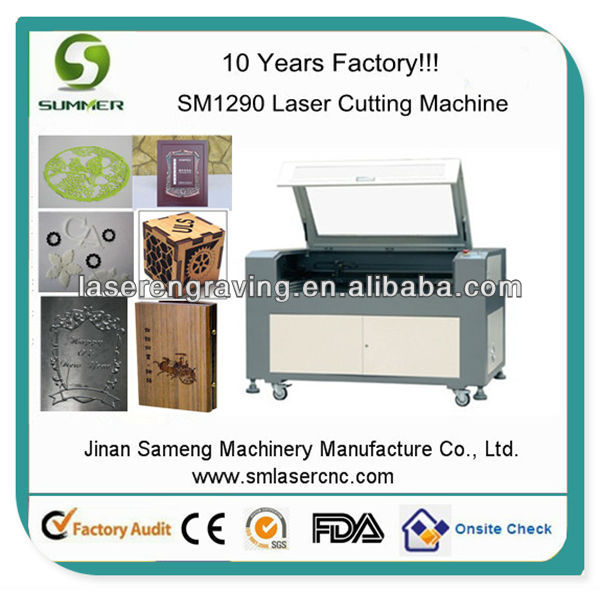 SM1290 60W 80W 100W co2 laser power supply and laser tube wood craft laser cutting machine