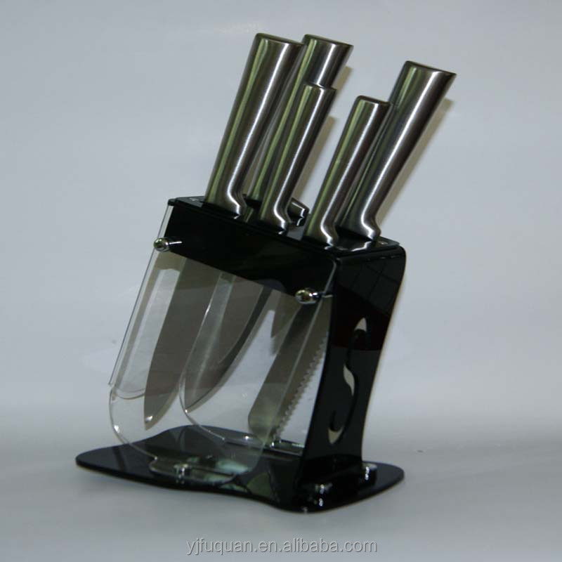 5PCS S/S KITCHEN KNIVES SETS WITH STAND