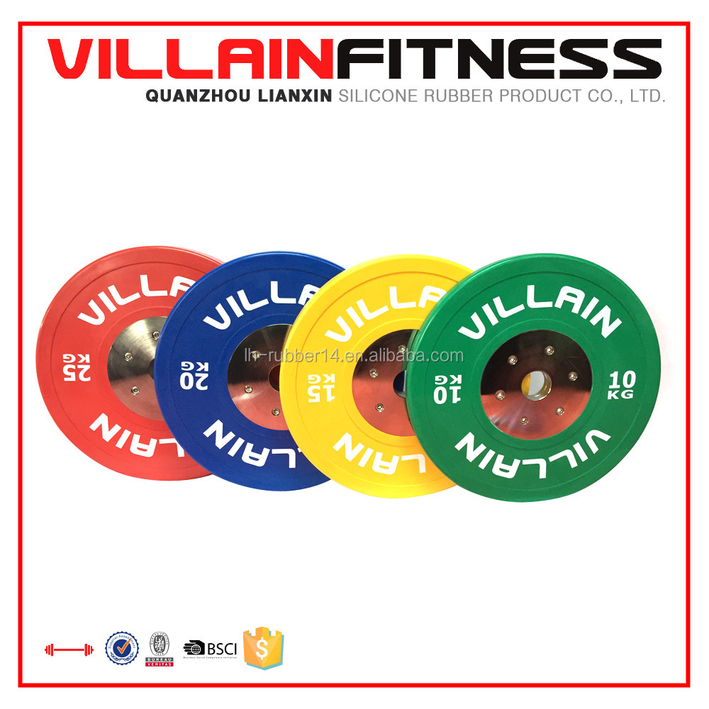new color rubber olympic weight