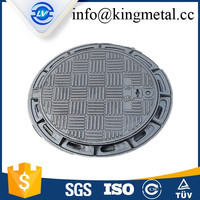 B125 EN124 round cast iron trench drain grates manhole cover with frame