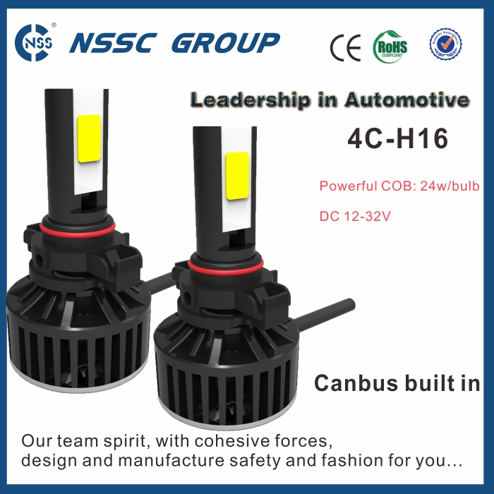 Headlight conversion kit 4C low cost H16 12-32V universial cars used led headlight for x5 e70 scania