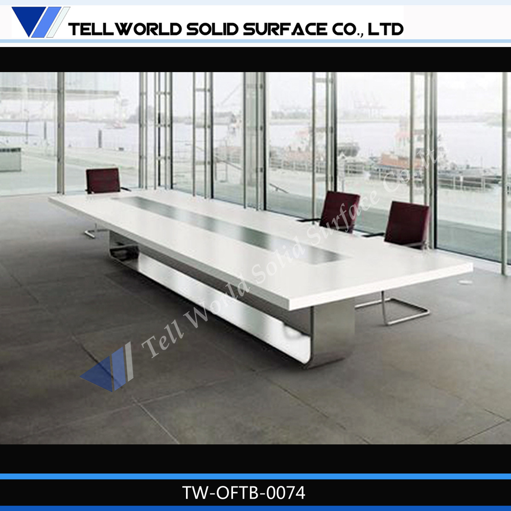Multimedia Conference Table Office Furniture Glass Conference - Glass conference table for sale
