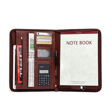 Document case Leather office stationery supplies a4 paper file organizer portfolio folder