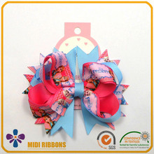 senior hair bow with diamond decoration 1 piece per card packing