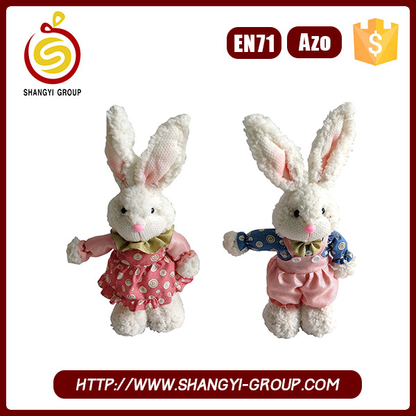 Hot sale 2017 plush easter bunny soft rabbit toys for baby