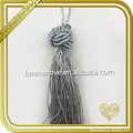 Wholesale Polyester gray tassel fringe for curtain rope FT-034