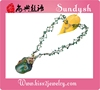 fashion handmade artificial single handmade real fancy green multi color big large crystal natural semi precious stone necklace