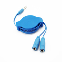 3.5mm Male to Female Jack Plug retractable Aux Stereo Audio Headphone Extension Cable Cord