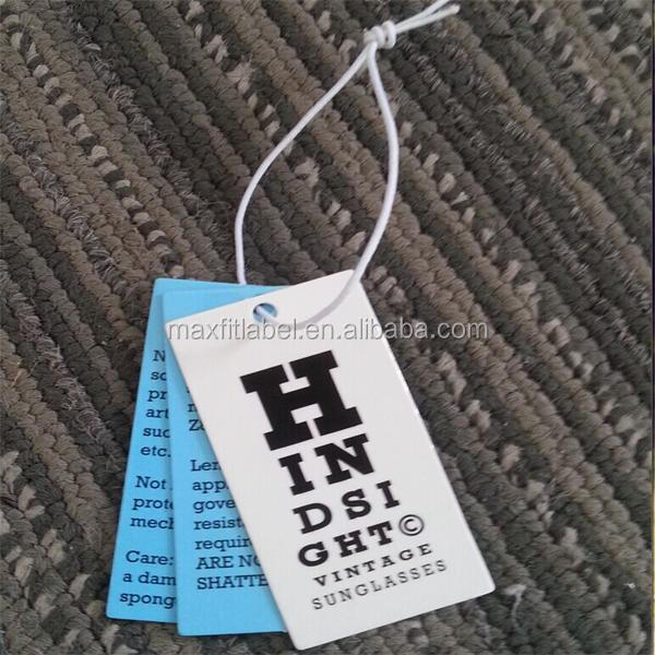2017 Custom high quality 350gsm paper hang tags for garments