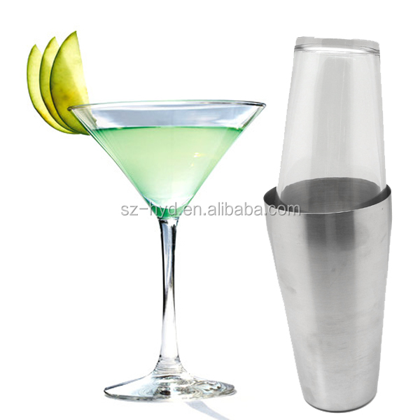 5-Piece Home Kitchen Bar Boston Cocktail Liqueur Alcohol Mixer Shaker Set