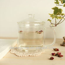 Clear Double Wall Glass Tea or Coffee Shop with Infuser